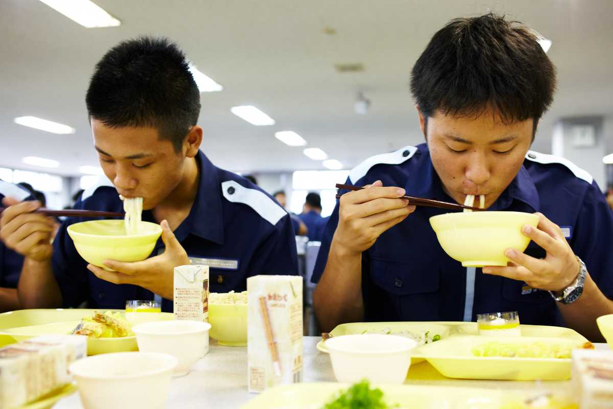 Students at the canteen