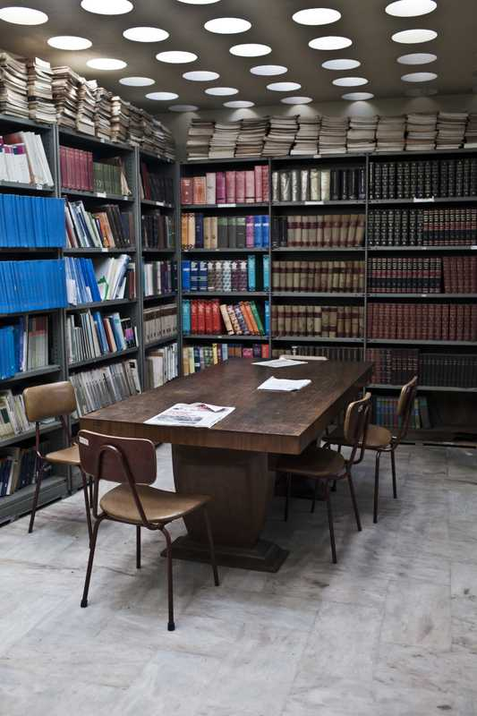 Library inside Radio Mozambique