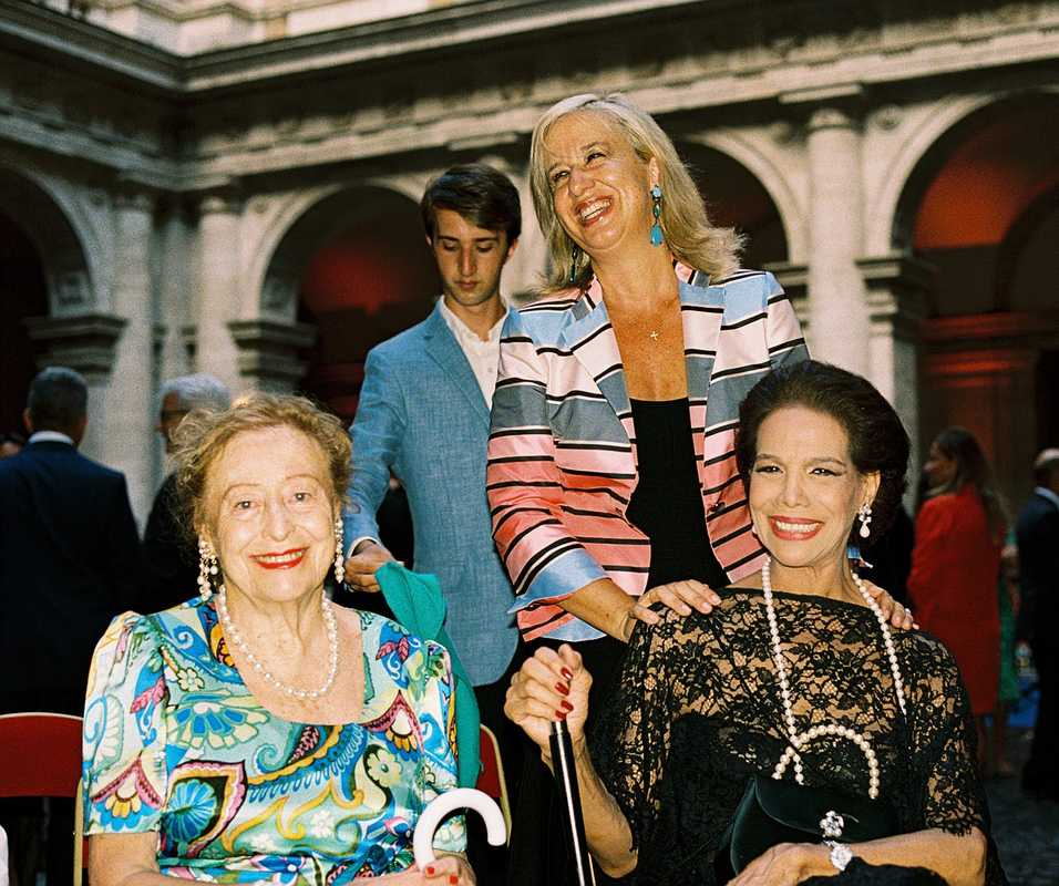 (From left) Princess Elettra Marconi, Alessandra Necci and Countess Marisela Federici