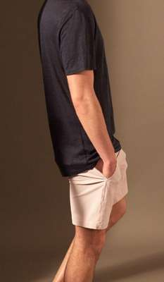 T-shirt and swimshorts by Onia.