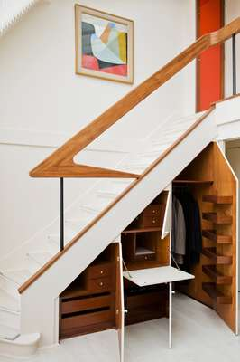 Storage space under the staircase