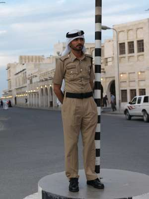 A traffic policeman in Doha
