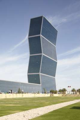 The Zigzag, one of dozens of oddly-shaped new buildings being erected in Doha