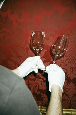 During ball season, 40,000 glasses are washed at the Hofburg alone