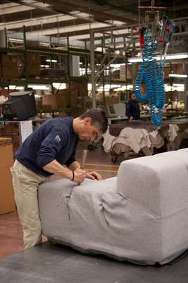 Fitting a sofa cover