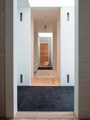Entrance to the top floor sauna, designed by Rintala Eggertsson architects