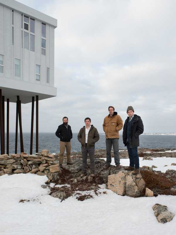 Architects who worked on the inn (left to right): Kingman Brewster, Joseph Kellner, Eric Ratkowski and Nick Herder