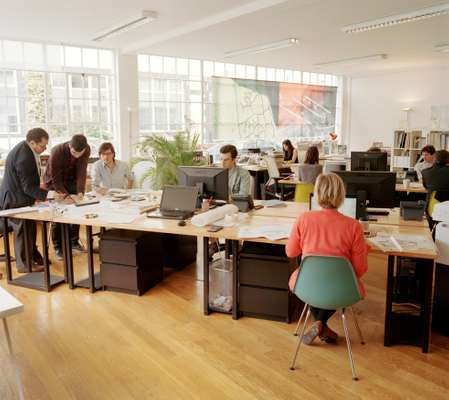 The London studios with over a dozen young international architects