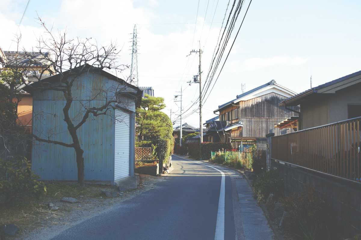 Neighbourhood around Nawa's former sandwich factory studio, northern Kyoto