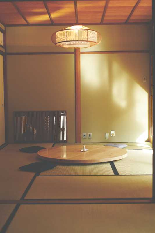 Traditional tatami mat rooms, overlooking the gardens