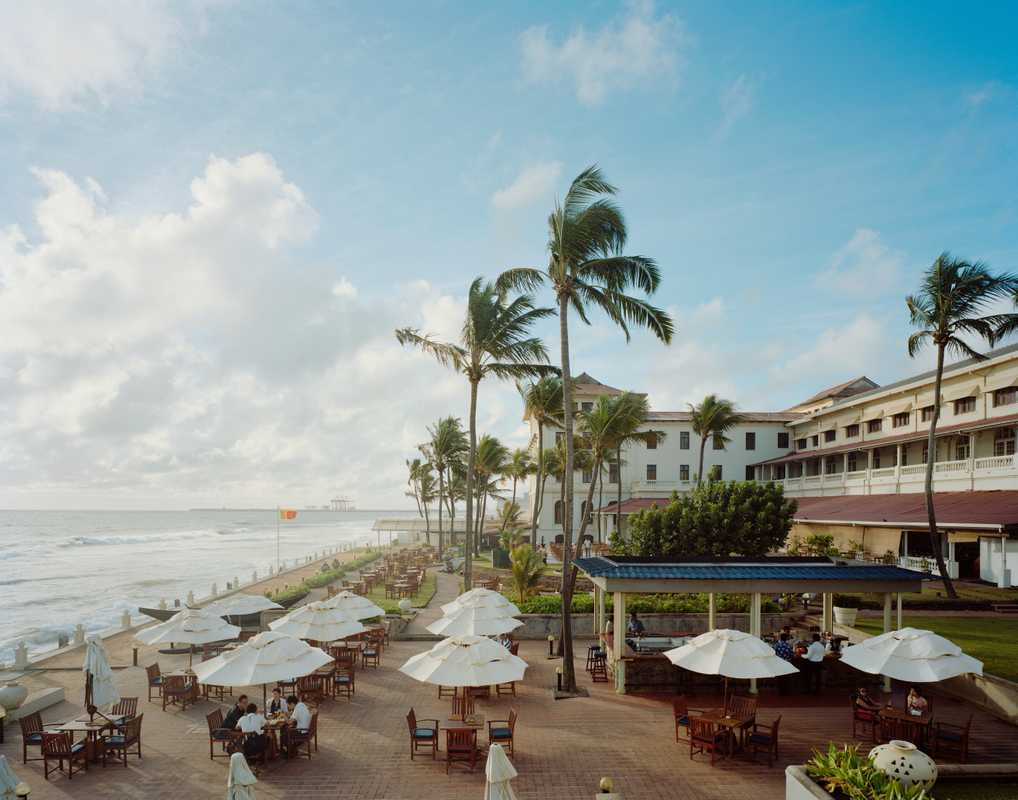 The terrace of Colombo's most famous hotel, the colonial-era Galle Face Hotel on Galle Road