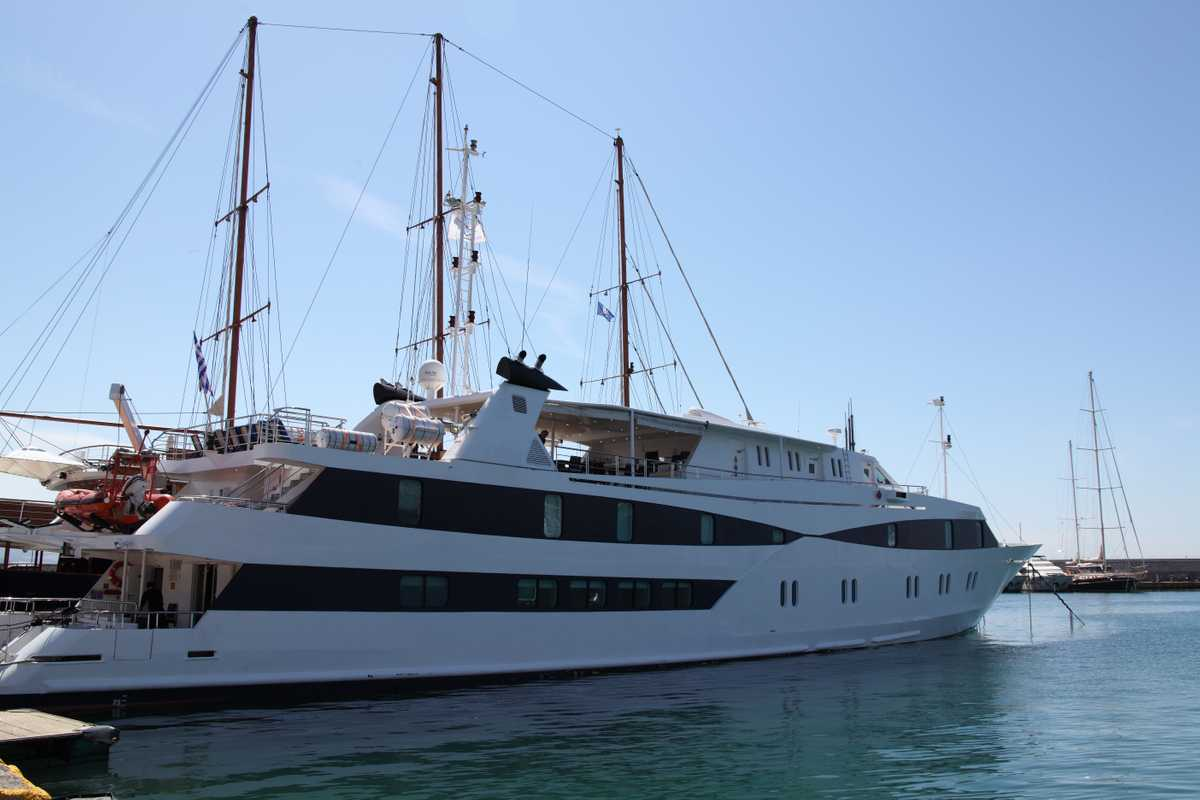One of Variety's yachts in the harbour