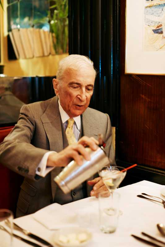 Gay Talese tops up his martini