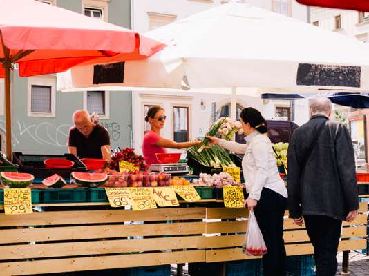 Brno's famous Cabbage Market sells more than cabbage