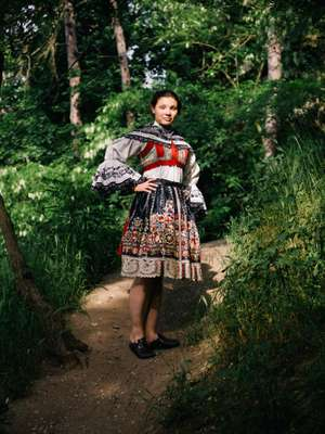 Traditional Moravian dress