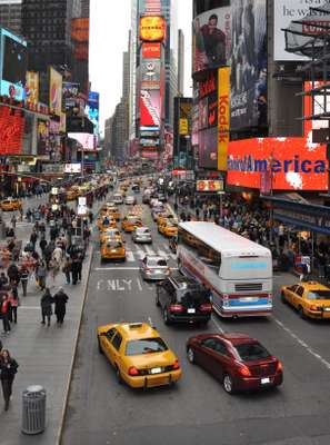 Times Square, New York, in 2007, before Gehl