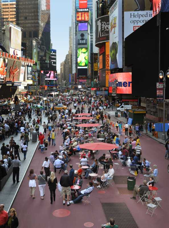 Times Square, in 2009, after Gehl
