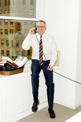 He may take calls in his office but much of Lane's business is carried out at the Gramercy Tavern