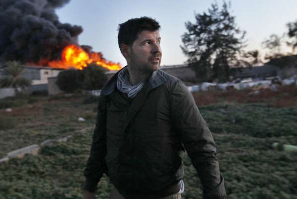 Photographer  Chris Hondros, two days before he was killed