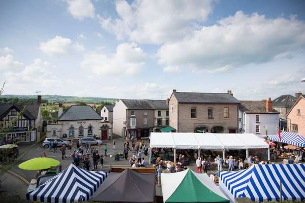 Hay-on-Wye town centre during the 2016 festival