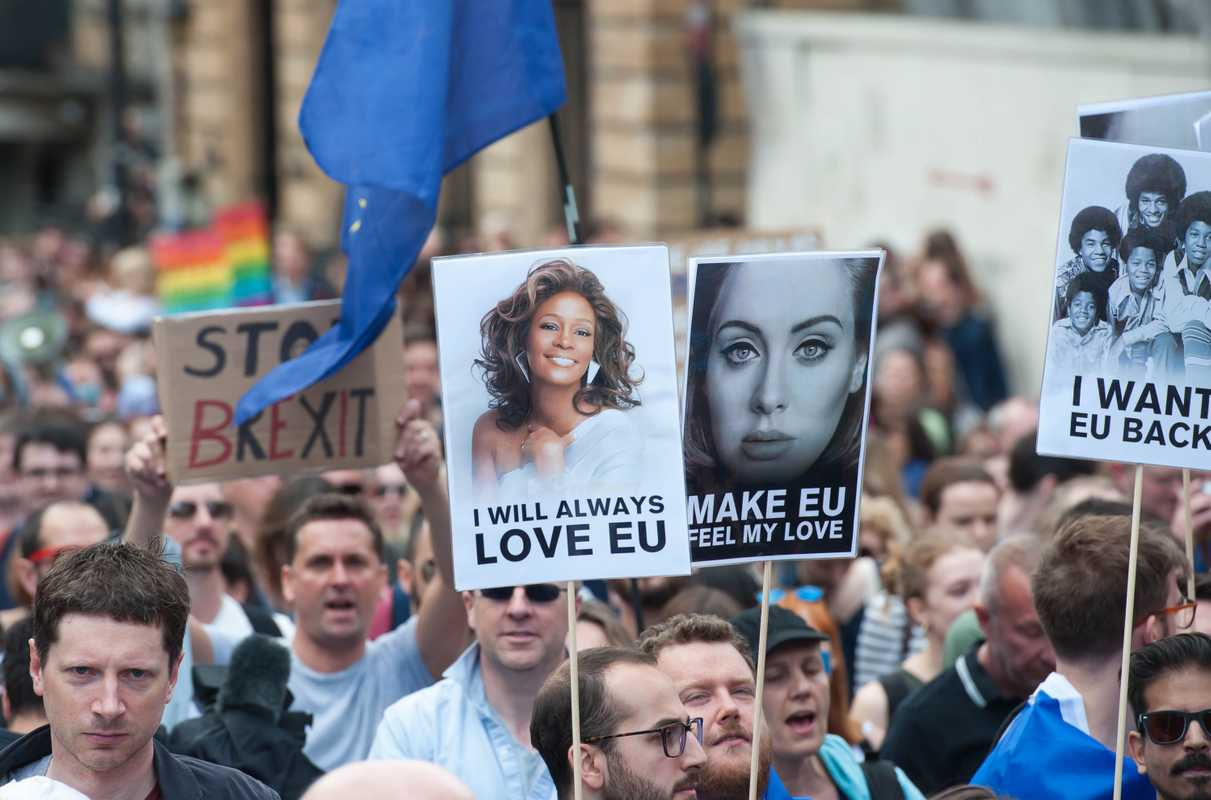 2 July 2016: Thousands of people marching in London to pretest the decision to leave the EU