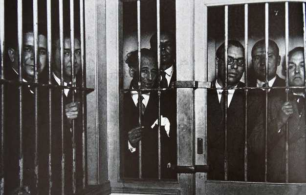 Catalan leader Lluis Companys (centre) was jailed for declaring independence. He was eventually released but when Francisco Franco took power he had Companys executed in1940.