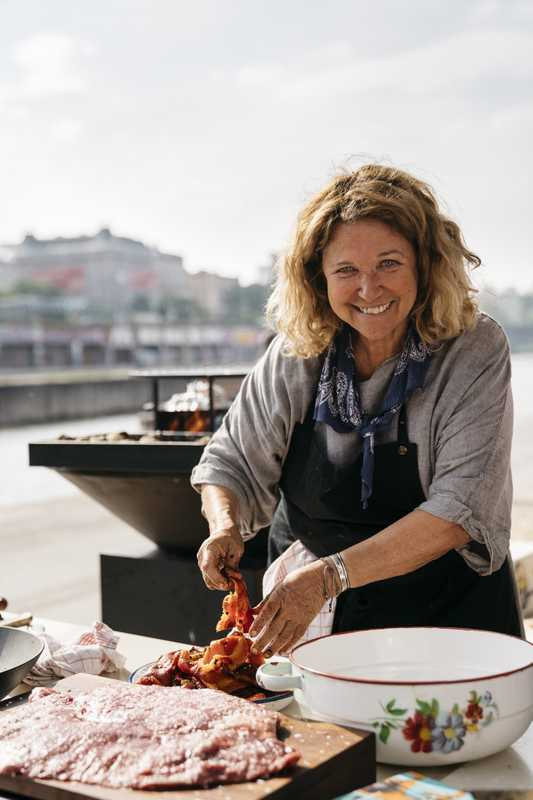 Renowned chef Haya Molcho cooking for Tel Aviv Beach