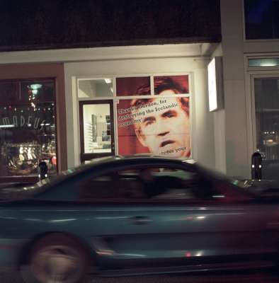 A Reykjavik boutique's window display of Gordon Brown