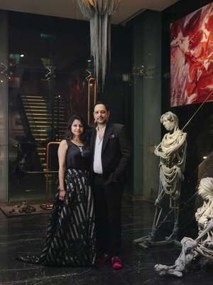 Nadia and Rajeeb Samdani