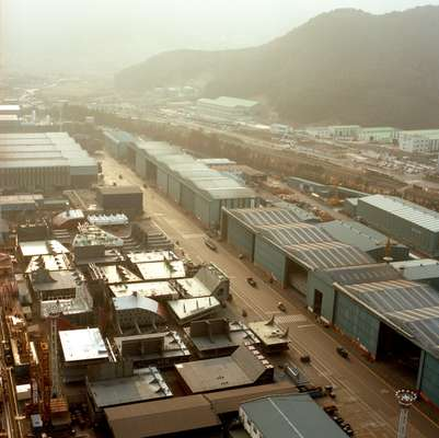 View over DSME yard