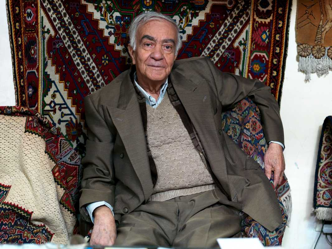 Hossein Soleimani, 87, has worked in the bazaar for half a century