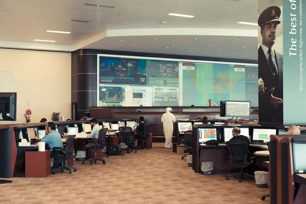 Emirates Network Control, where every detail of a flight is mapped out