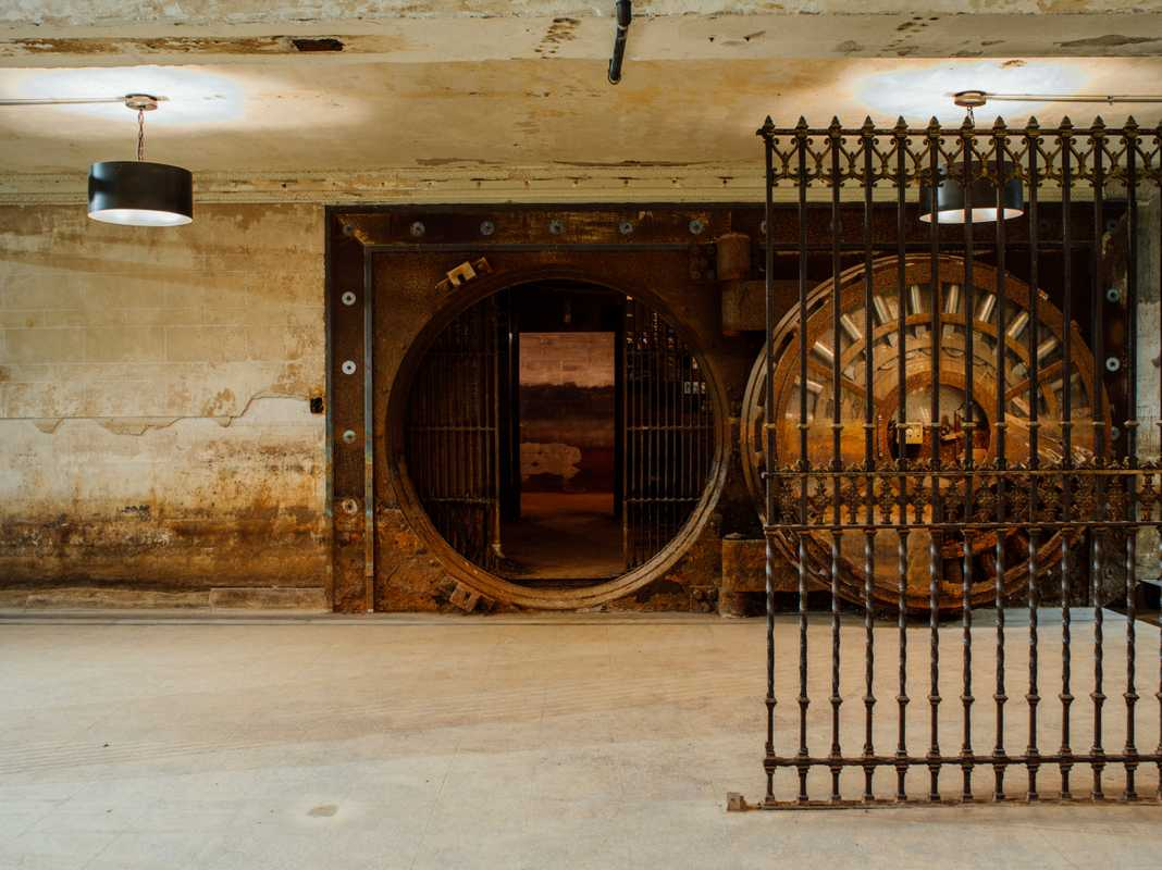 Old bank vault in the basement of the Stony Island Arts Bank