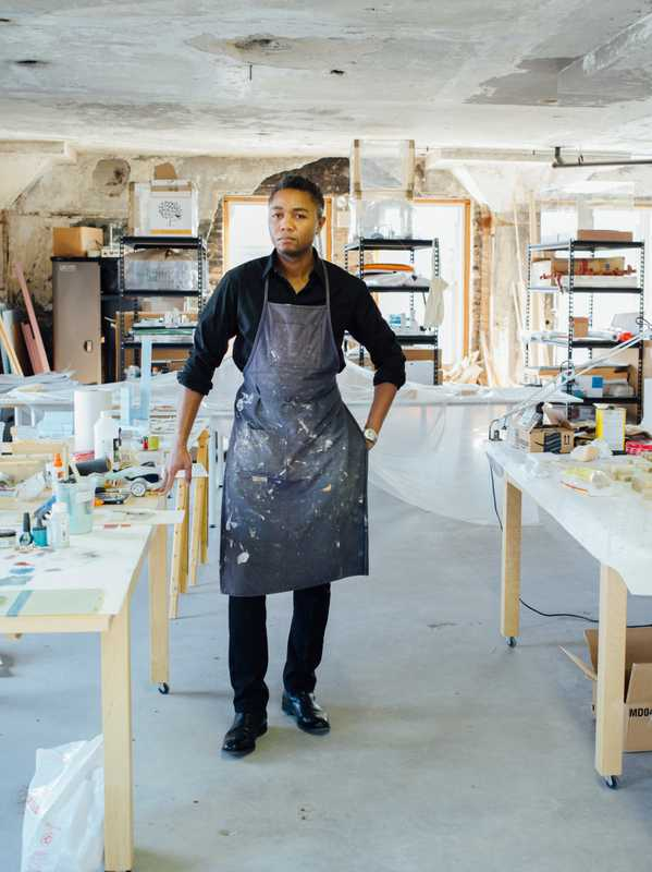 Architect Marshall Brown in his studio