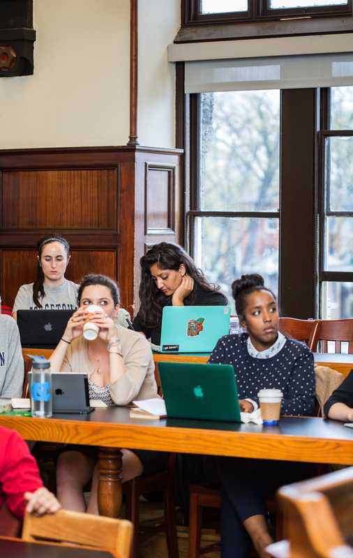 Bruce Hoffman's class in Healy Hall