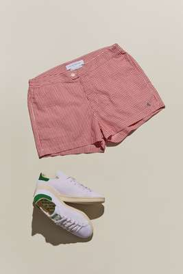 Swimming shorts by Coast Society, trainers by Adidas for J.Crew