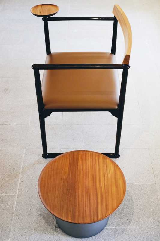 Furniture by Jihoon Ha; the Naju chair was designed for a room at the Changdeokgung Palace