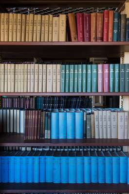Dusty tomes in Riggs Library