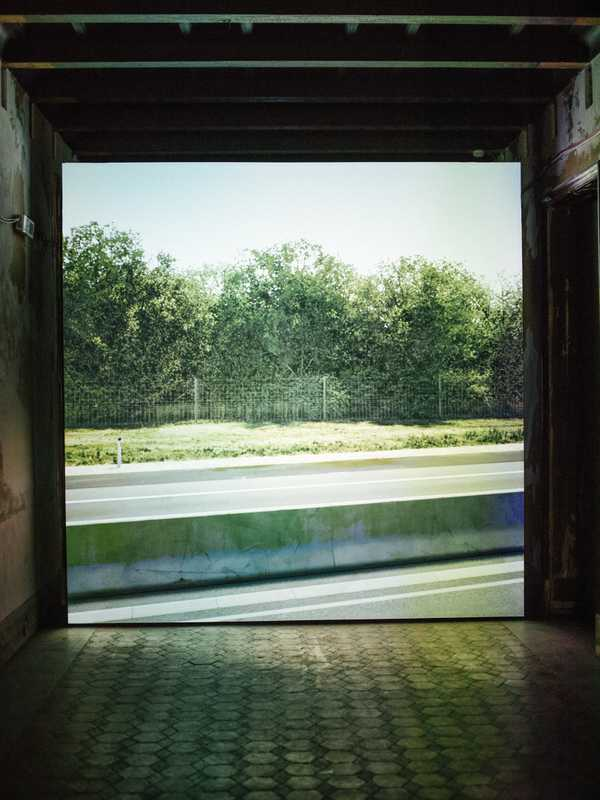 'Untitled (near Parndorf, Austria)' by John Gerrard at the Palazzo Forcella De Seta