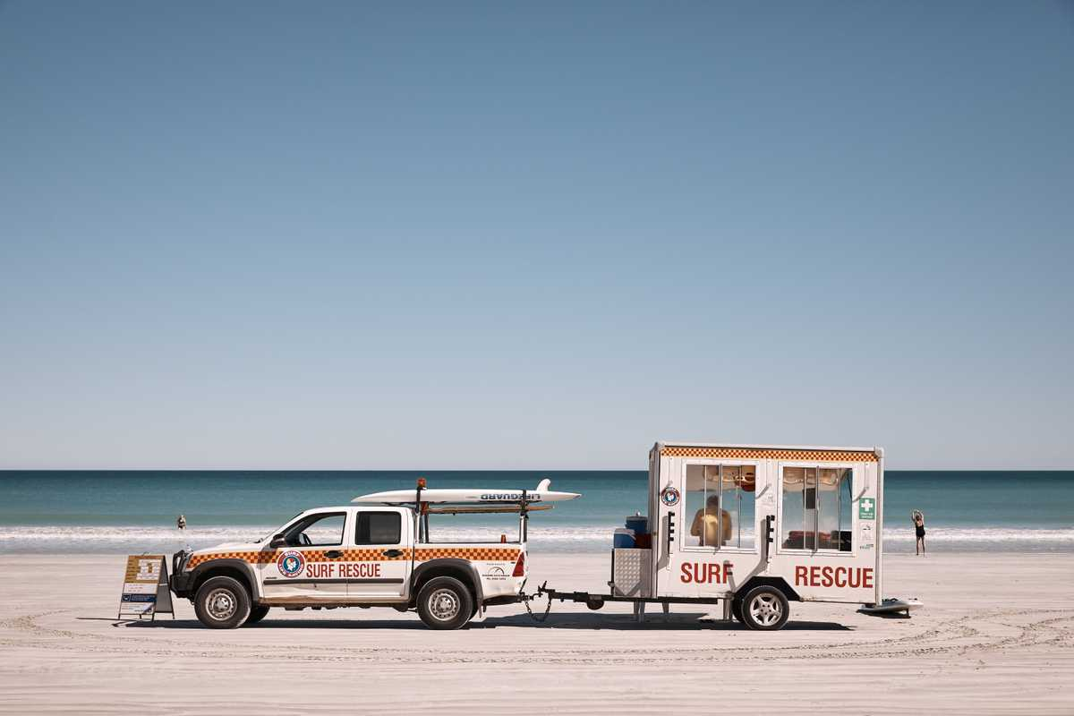 Cable Beach's surf-rescue team