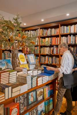Browsing at Potts Point Bookshop