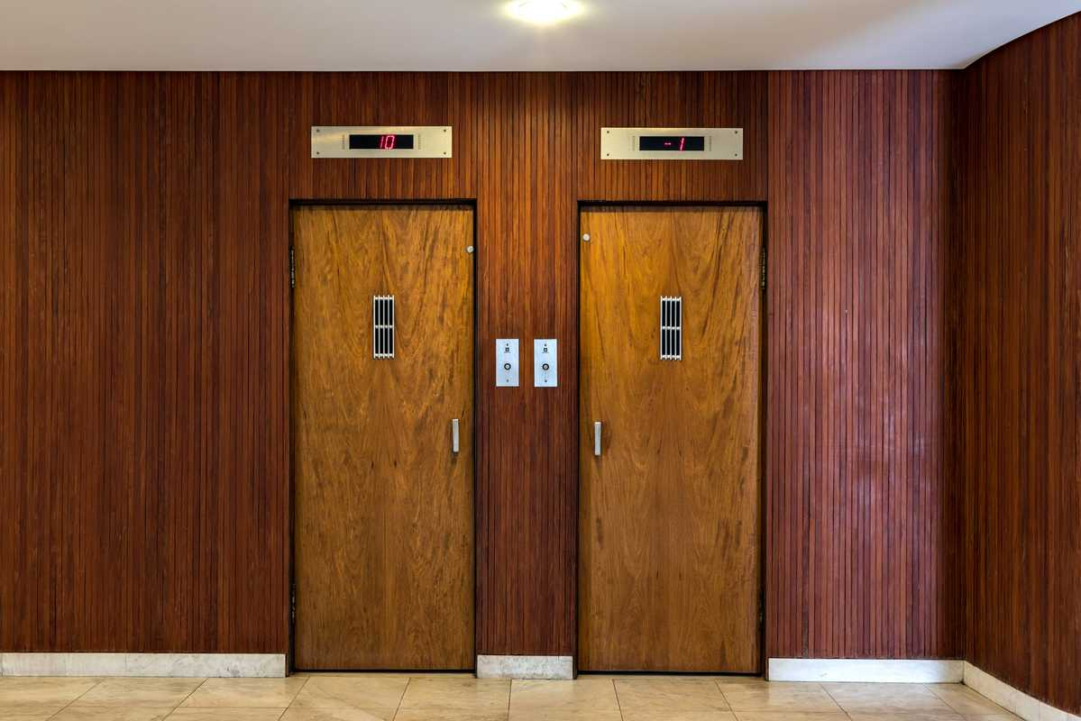 Restored wooden lifts sit side by side