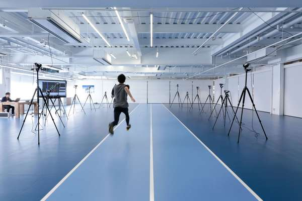 The laboratory's body-motion capture room