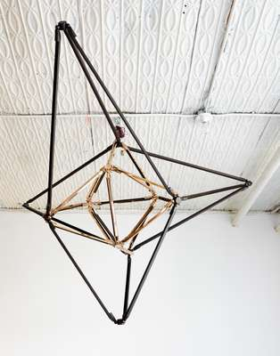 Brittain's brass chandelier; Shy series