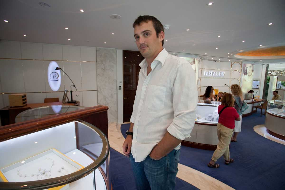 James Paspaley, executive director of the Paspaley Group, in its retail shop