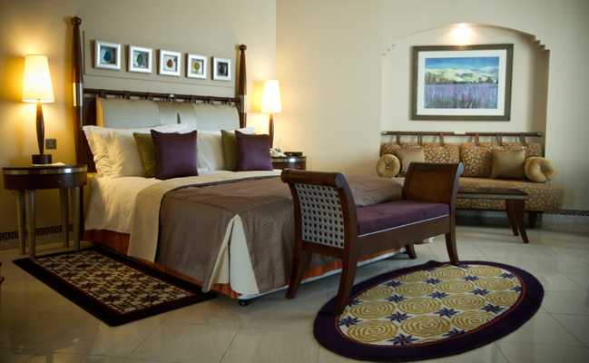 One of the luxurious rooms in the hotel