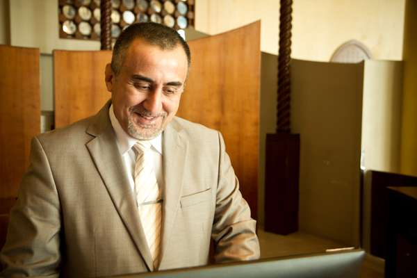 Front-office manager Hisham