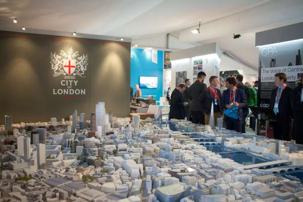 The London Stand takes up prime real estate at Mipim