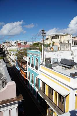 The colourful buildings in Old San Juan