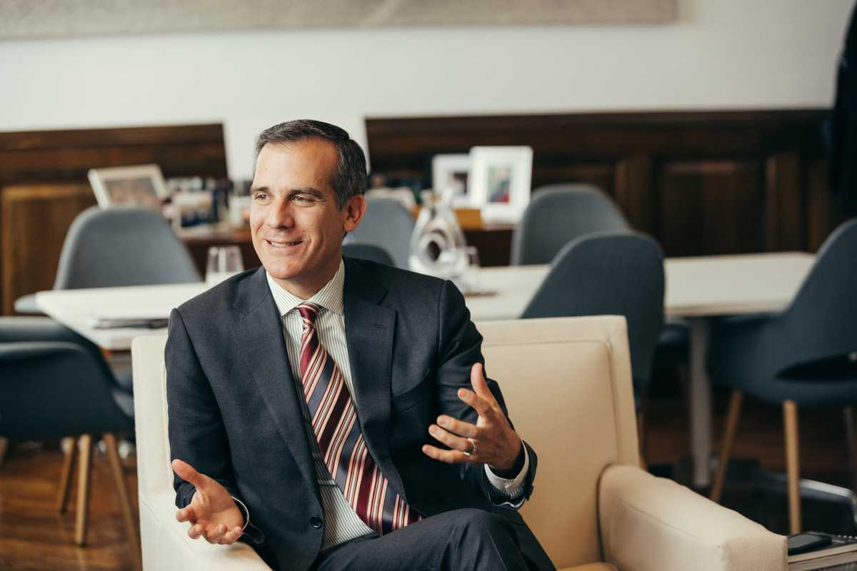 Garcetti discusses his record